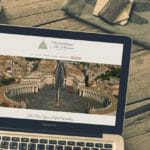 Weddings In Rome website being displayed on a Laptop